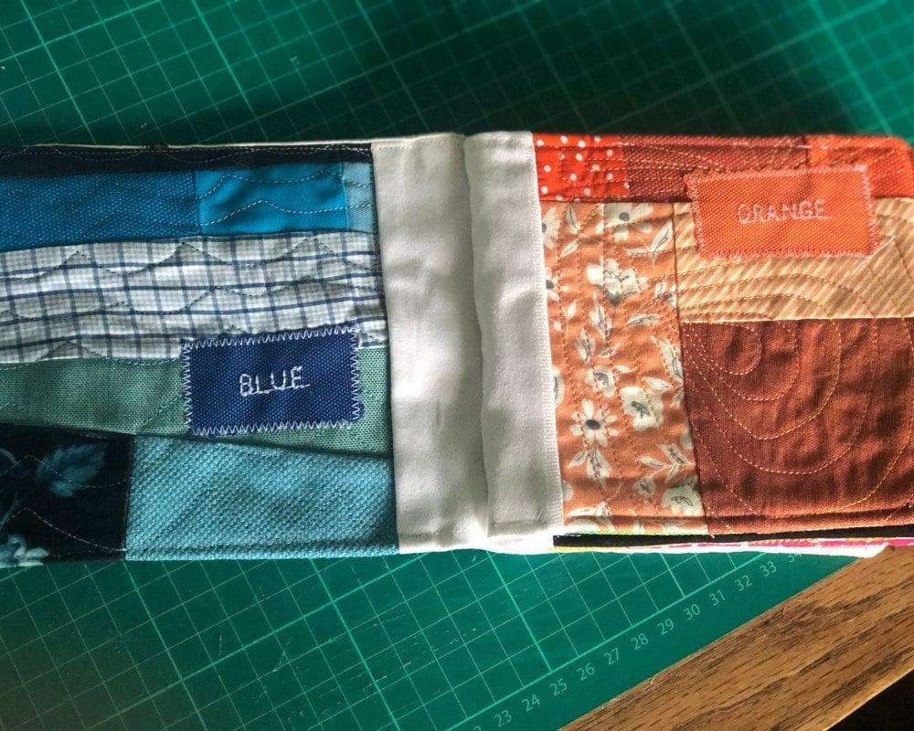 fabric baby book homemade