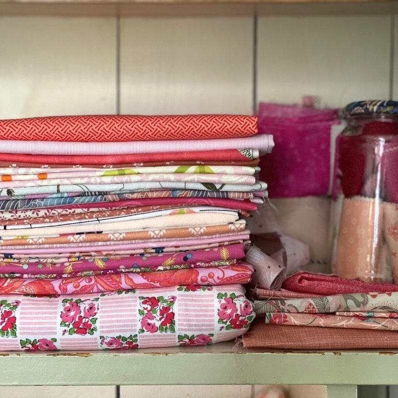 sewing room organization fabric storage