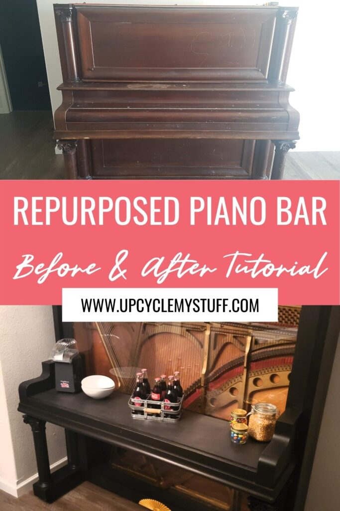 bar made from an old piano