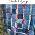 easy denim quilt - improv