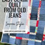 quilt from old jeans easy