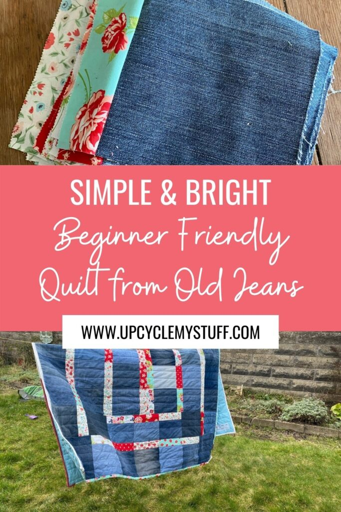 beginner denim quilt