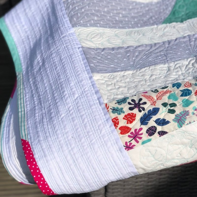 pink & teal quilt