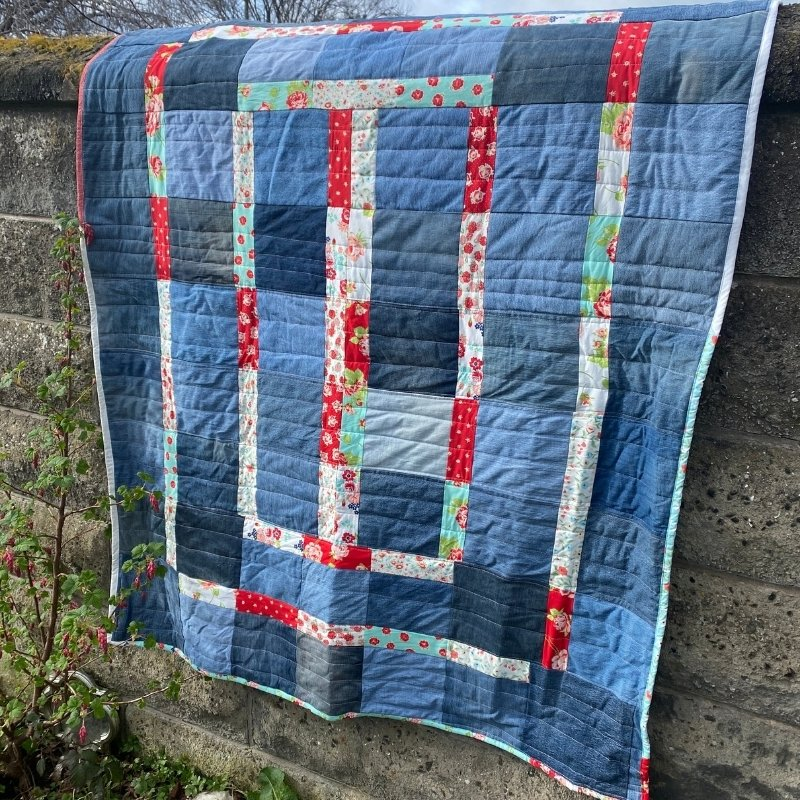 quick denim quilt