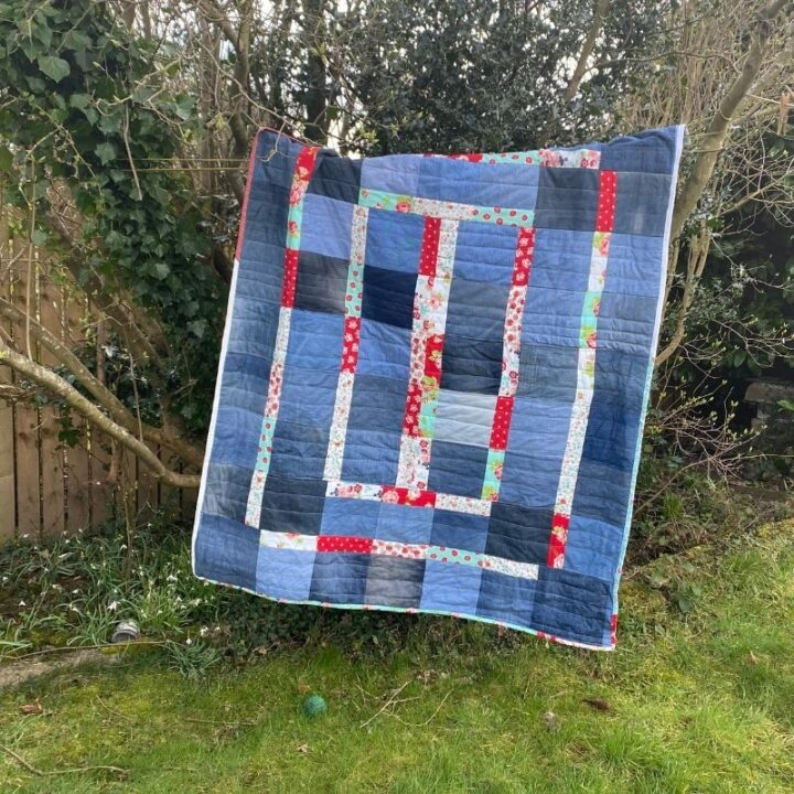 quick denim quilt - improv