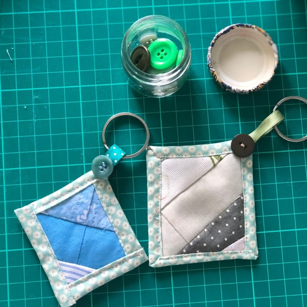 quilt as you go keychain