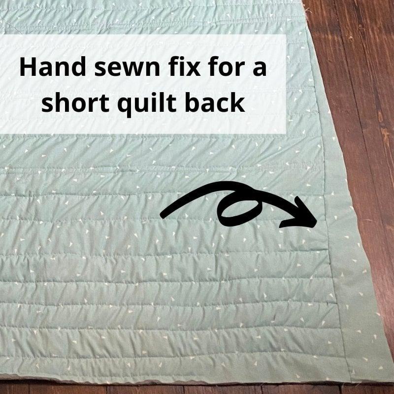 quilt back fix
