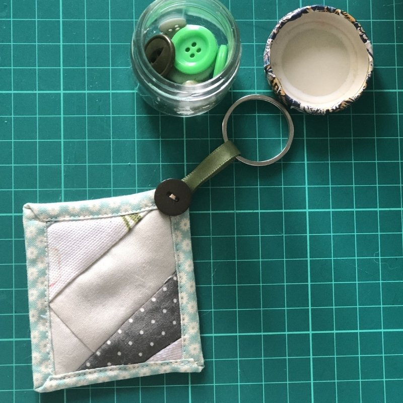 quilted keychain