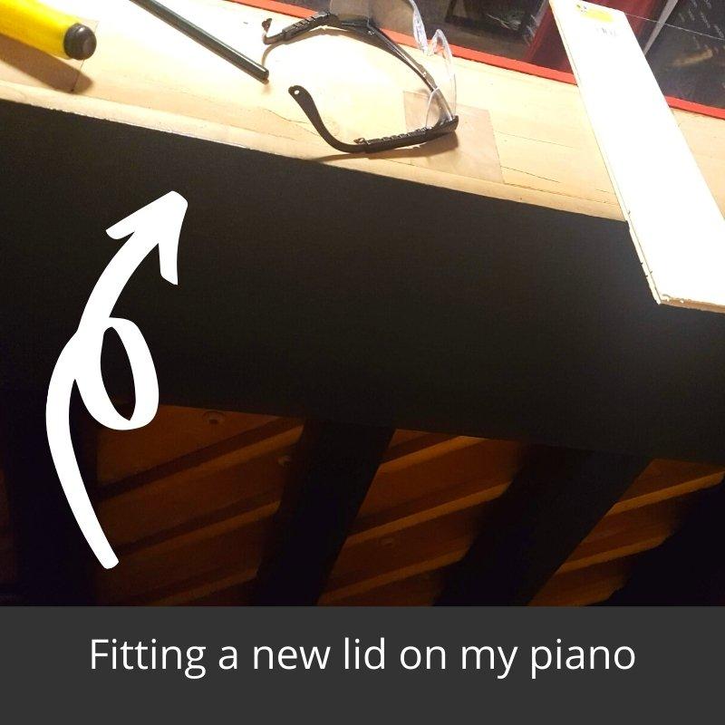 repurposed piano bar - new lid