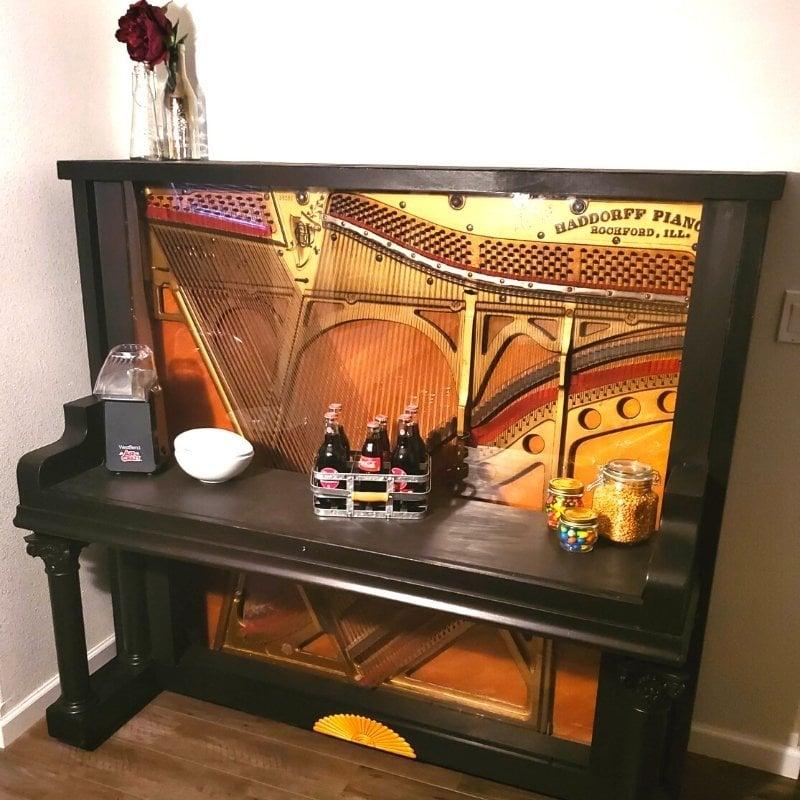 repurposed piano bar