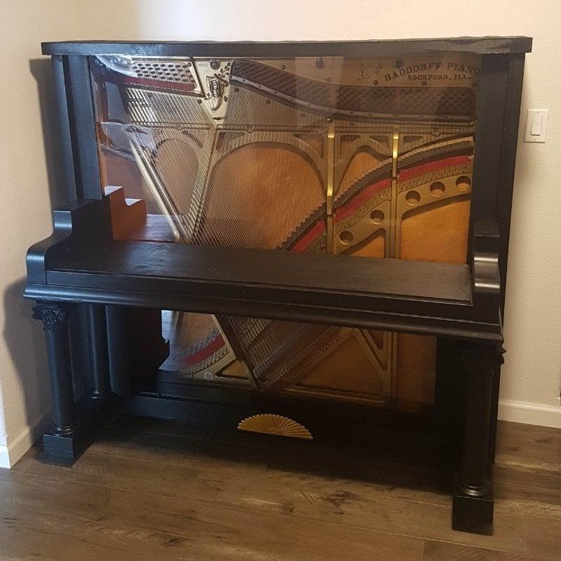 repurposed piano bar in progress