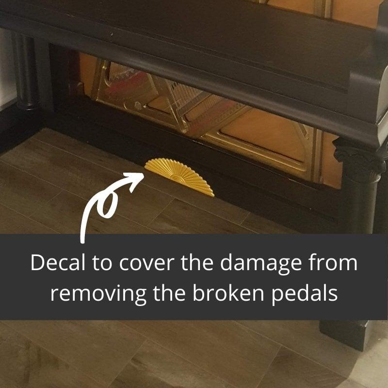 repurposed piano bar - wooden decal