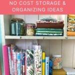 no cost organizing ideas