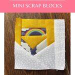 scrap fabric quilt block