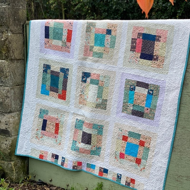 scrappy 9 patch quilt