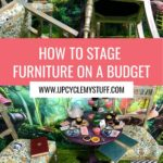 painted furniture staging