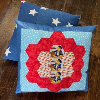 make a cushion cover from an orphan block