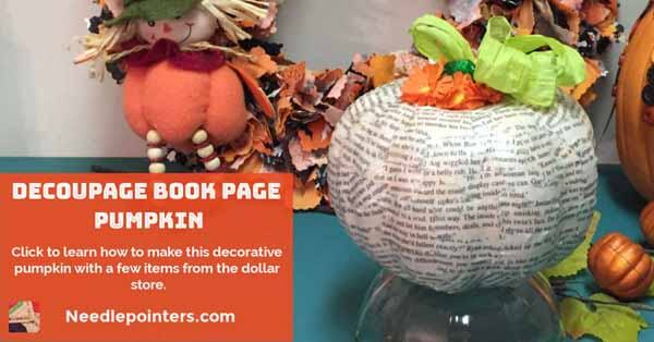 Decoupage Book Pumpkin FB