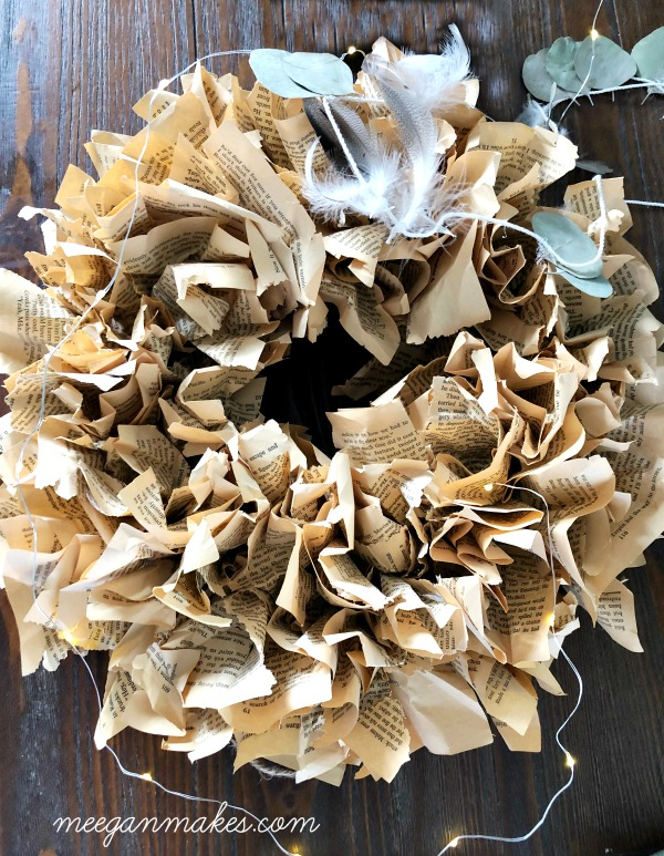 How To Make a Vintage Book Page Wreath