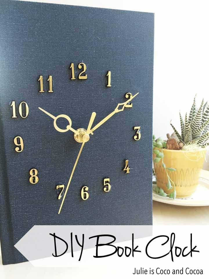 book clock diy