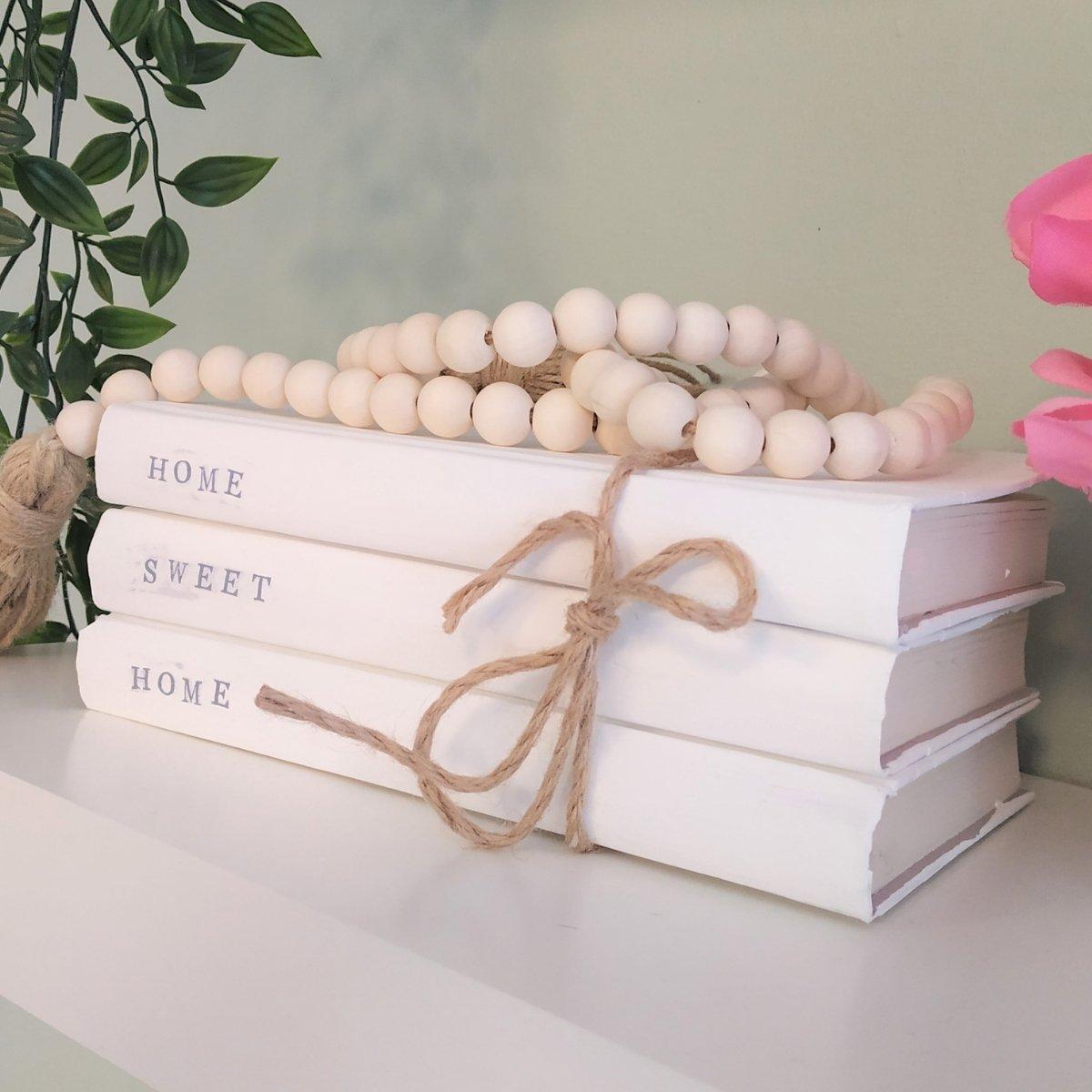 diy stacked book decor