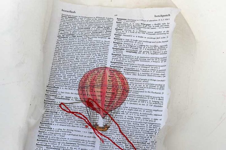 embroider paper hot air baloon ft s