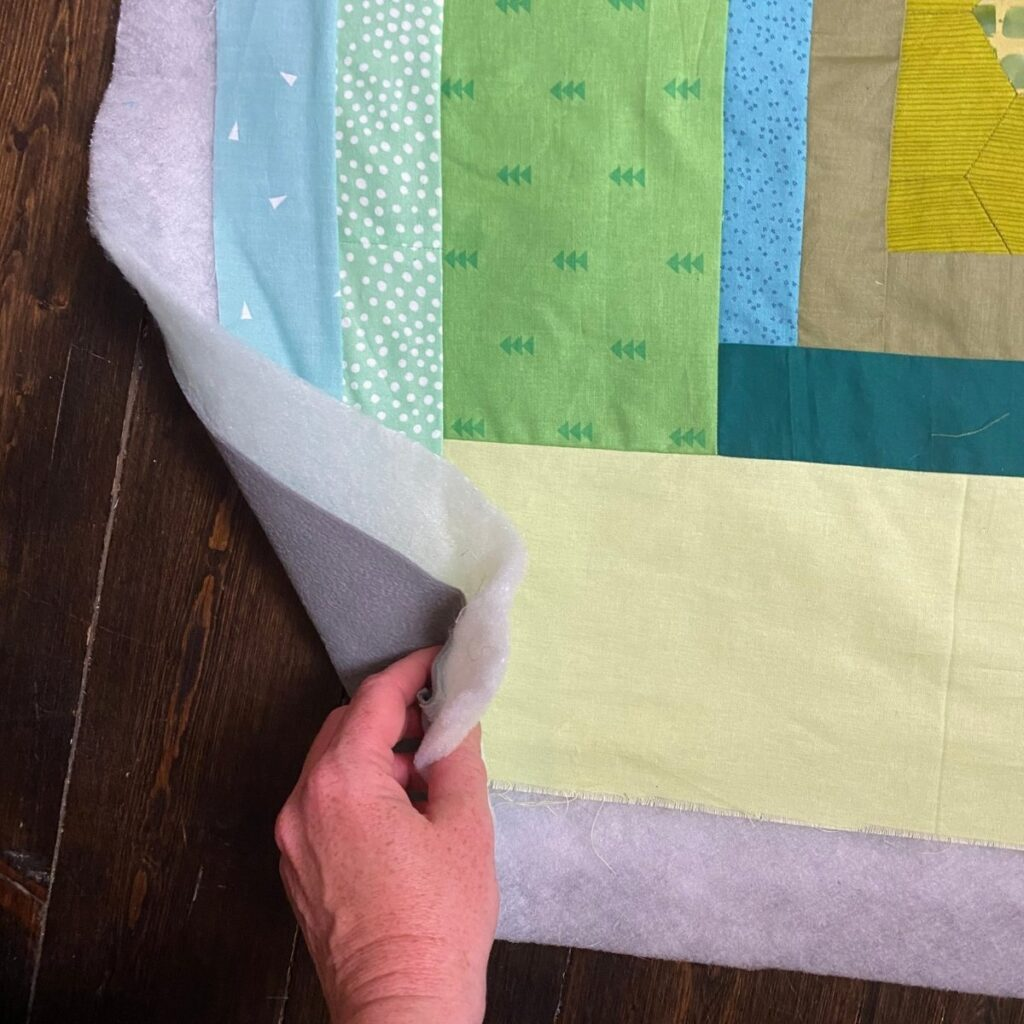 fleece backed quilt with batting