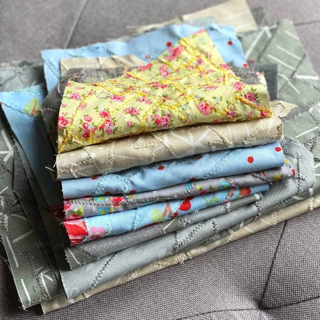how to make fabric from your scraps