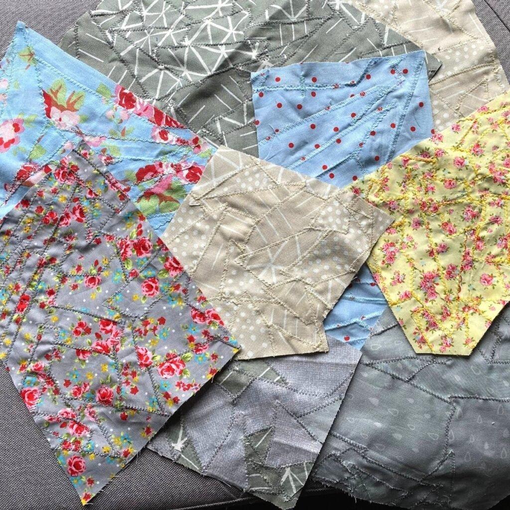 como fazer tecido com suas sobras