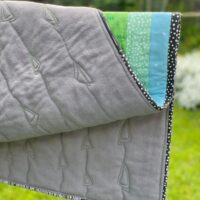 how to use fleece for quilt backing