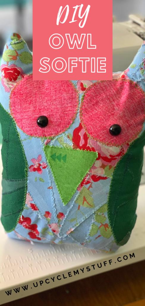 fabric owl softie sewing tutorial