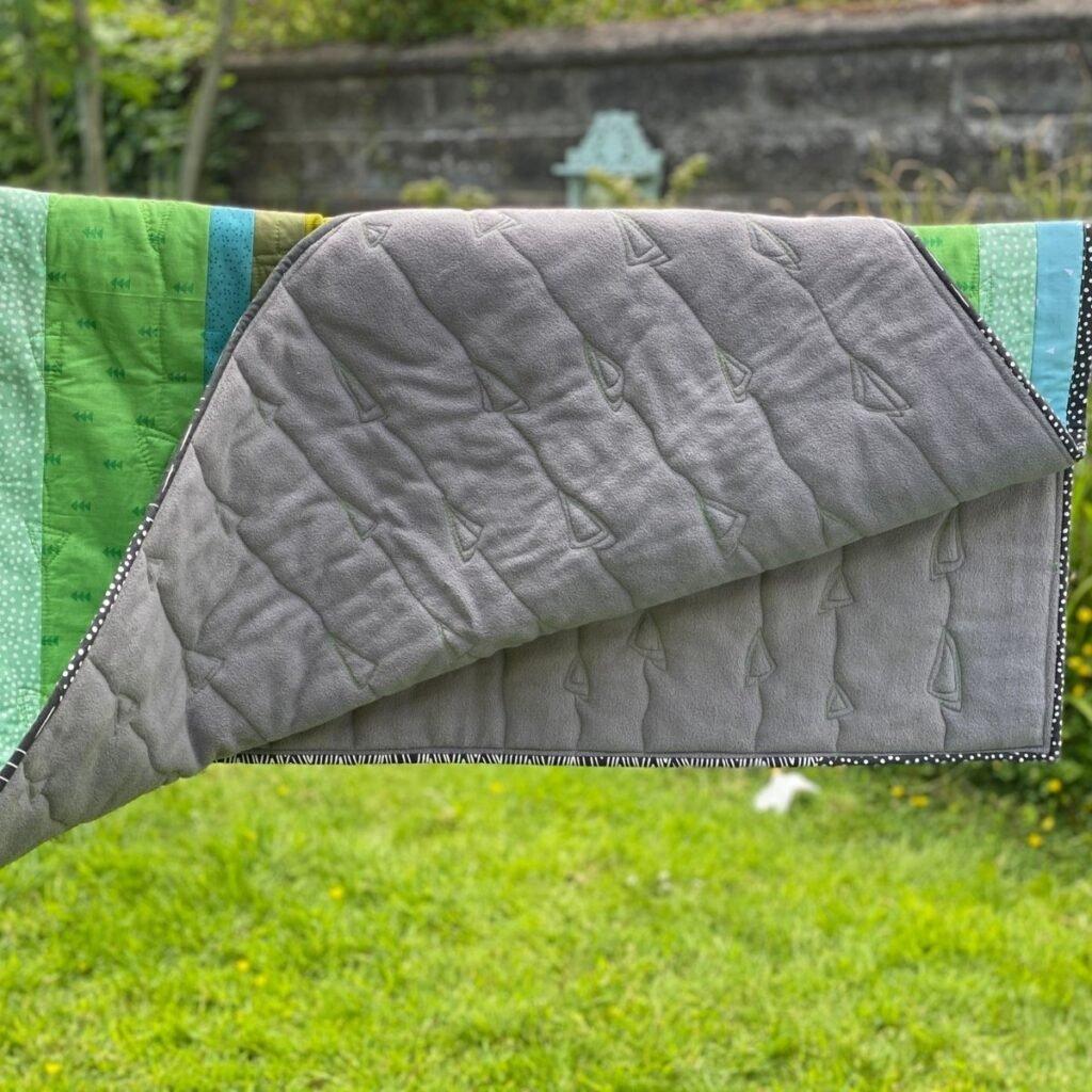 using fleece for quilt back