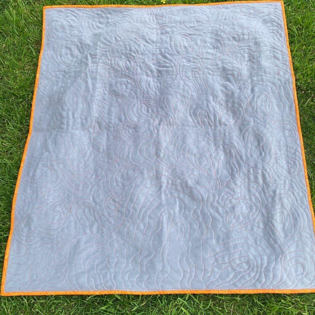 fleece quilt back - baby quilt