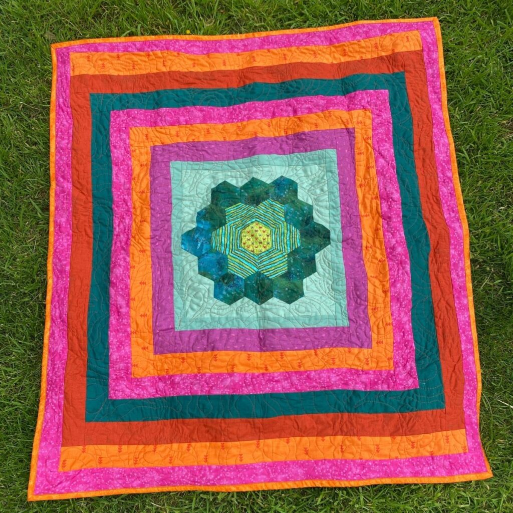 using fleece for quilt backs - baby quilt