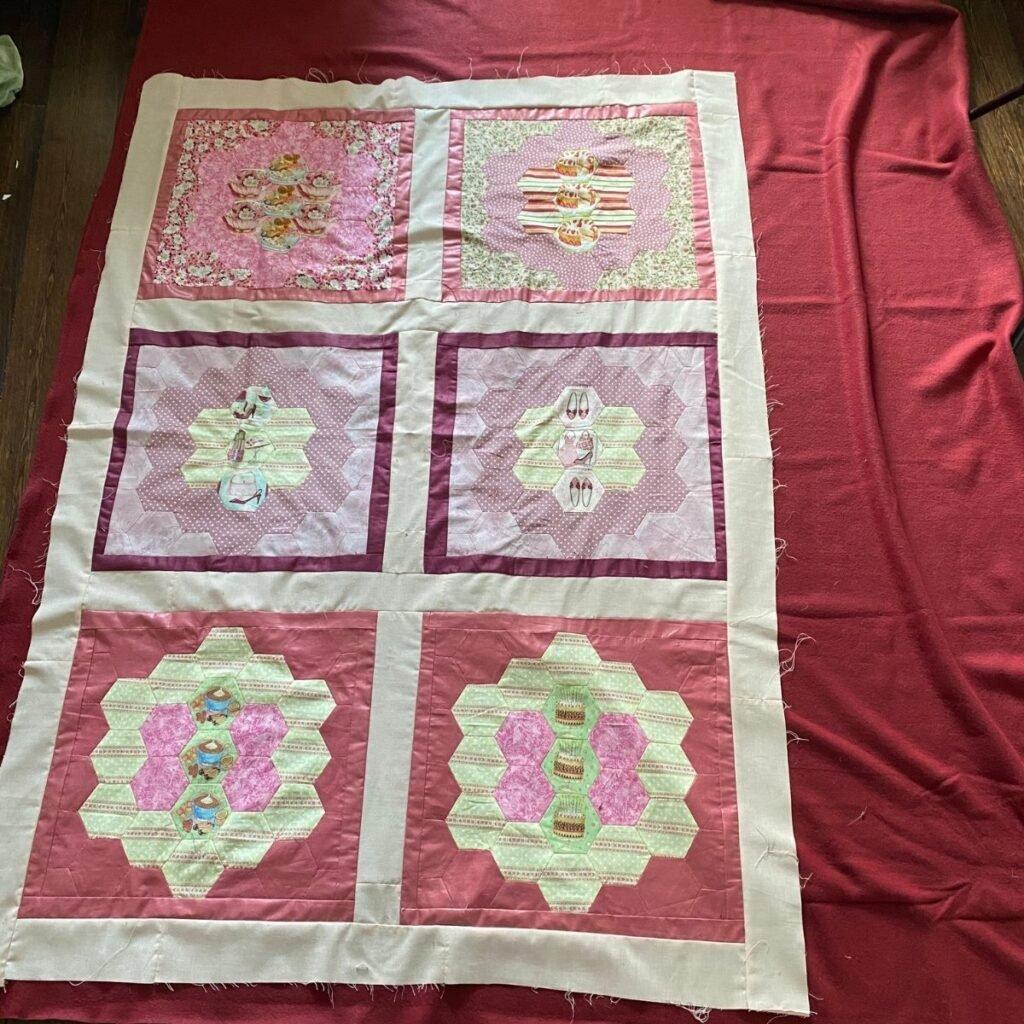 using fleece for quilt backing