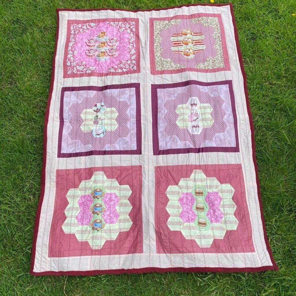 using fleece for quilt backs - lap quilt